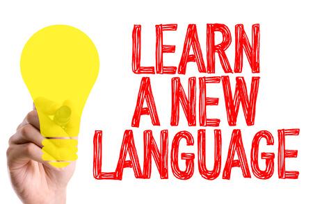 fluency: Learn a new language written with a marker pen