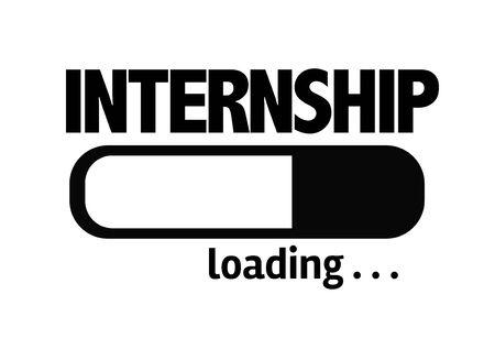 internship: Progress bar loading with the text Internship