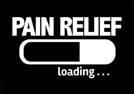 easing: Progress bar loading with the text Pain Relief Stock Photo