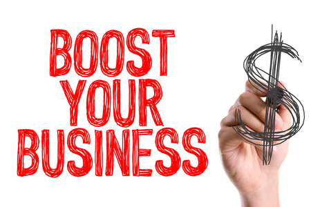 boost: Boost your business written with a marker pen