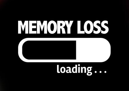memory loss: Progress bar loading with the text Memory Loss Stock Photo