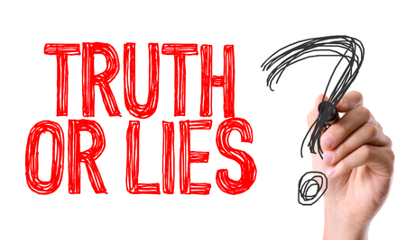 Truth or lies? written with a marker pen Stock Photo
