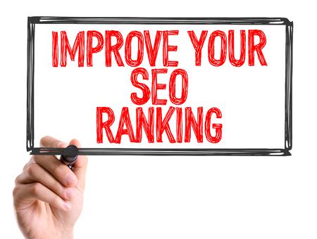 meta analysis: Improve your SEO ranking written with a marker pen Stock Photo