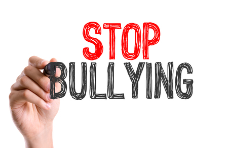 disrespect: Stop bullying written with a marker pen
