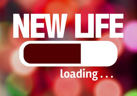 Barra de progreso de carga con el texto New Life