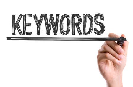 Keywords written with a marker pen