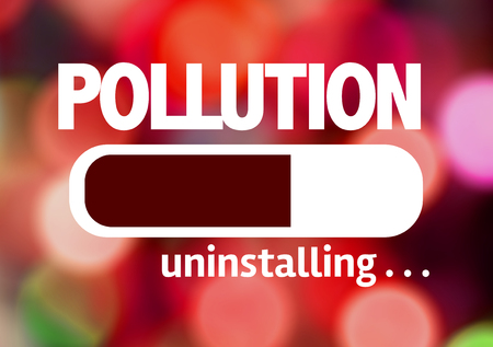 co2 emissions: Progress bar uninstalling with the text Pollution
