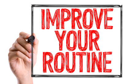 habitual: Improve your routine written with a marker pen Stock Photo