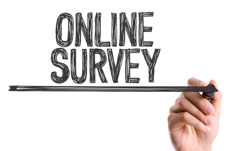 electronic voting: Online survey written with a marker pen