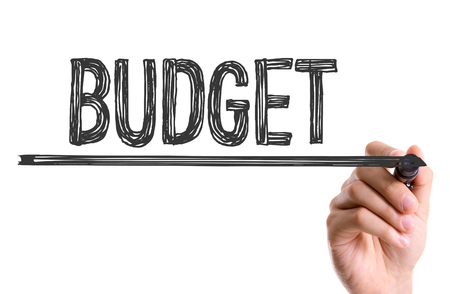 Budget written with a marker pen Stock Photo