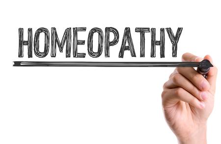 marker pen: Homeopathy written with a marker pen