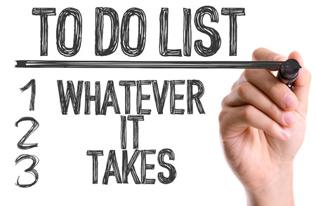 whatever: To do list - whatever it takes written with a marker pen Stock Photo