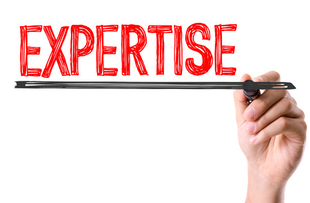written: Expertise written with a marker pen Stock Photo