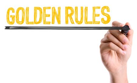 golden rule: Golden rules written with a marker pen