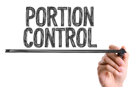Portion control written with a marker pen