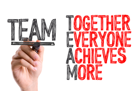 acronym: Team acronym written with a marker pen
