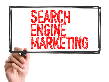 search engine marketing: Search engine marketing written with a marker pen
