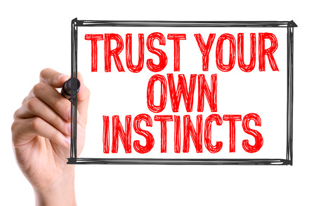 instincts: Trust your own instincts written with a marker pen