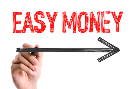 gimmick: Easy money written with a marker pen