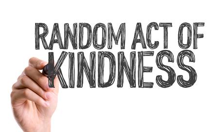 helpfulness: Random act of kindness written with a marker pen
