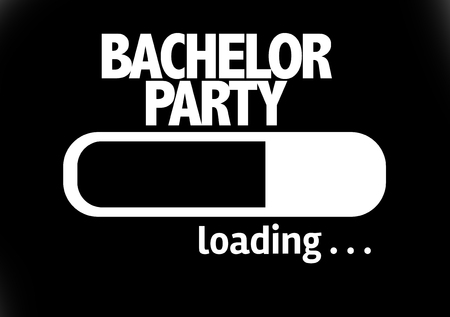 striptease: Progress bar loading with the text Bachelor Party