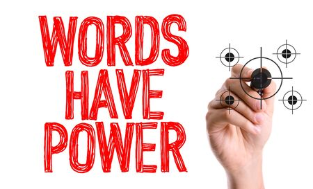 Words have power written with a marker pen Stock Photo