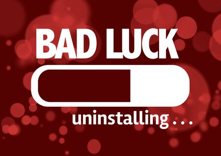 bad fortune: Progress bar uninstalling with the text Bad Luck