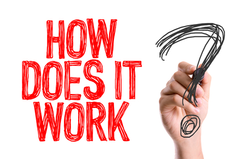 How does it work? written with a marker pen Banque d'images