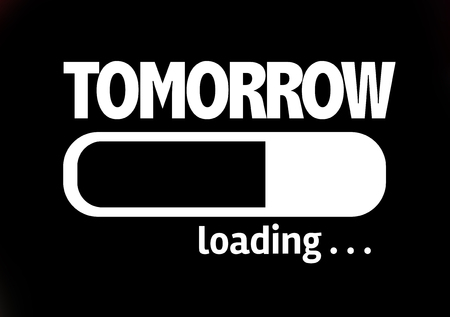 tomorrow: Progress bar loading with the text Tomorrow