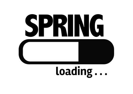 springbreak: Progress bar loading with the text Spring