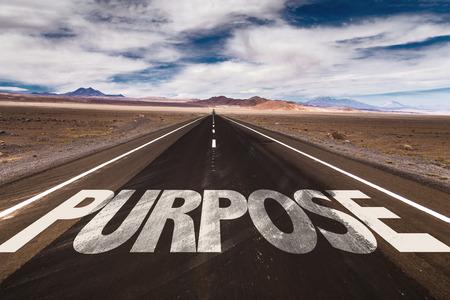 Purpose written on the road Standard-Bild