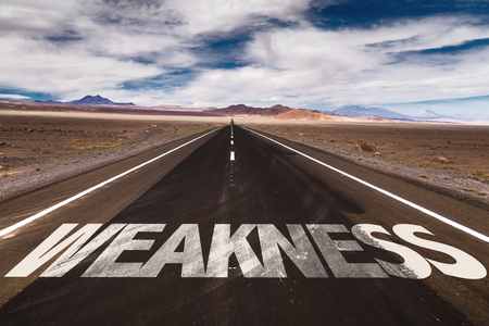 incapacity: Weakness written on the road