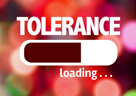 tolerance: Progress bar loading with the text Tolerance