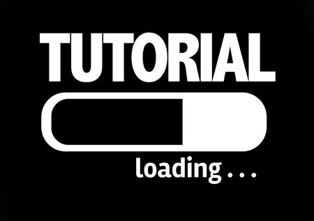 tutorial: Progress bar loading with the text Tutorial Stock Photo