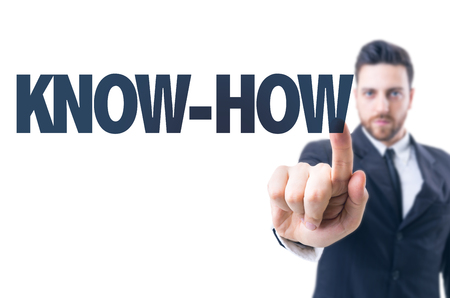 knowhow: Business man pointing the text: Know-how