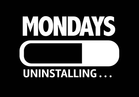 mondays: Progress bar uninstalling with the text Mondays