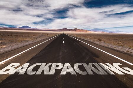 backpacking: Backpacking written on the road