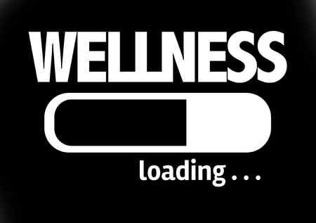 spirituality therapy: Progress bar loading with the text Wellness