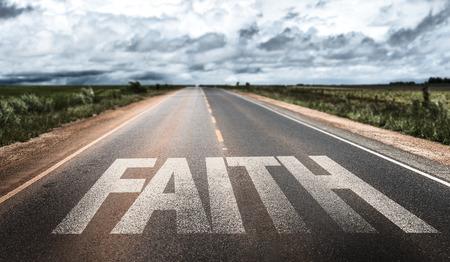 christian trust: Faith written on the road