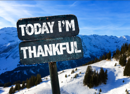 Today Im thankful sign with outdoors background