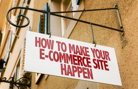 digital asset management: How to make your e-commerce site happen signpost on building background
