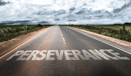 perseverance: Perseverance written on the road