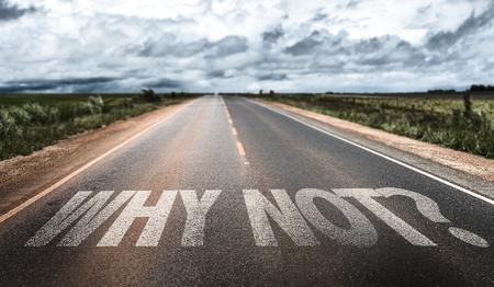 Warum nicht? auf der Straße geschrieben Lizenzfreie Bilder