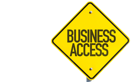 private data: Business access sign on white background