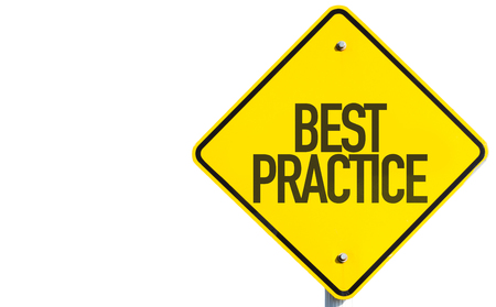 Best practice sign on white background