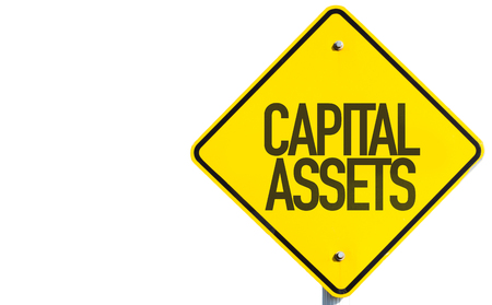 Capital assets sign on white background Stock Photo