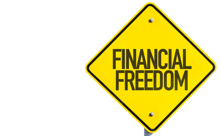 Financial freedom sign on white background