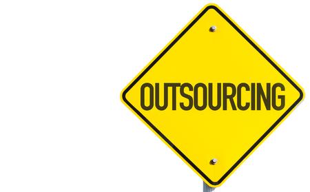 Outsourcing teken op witte achtergrond