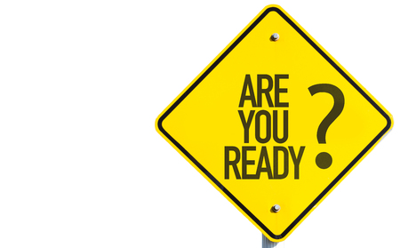 eagerness: Are you ready? sign on white background