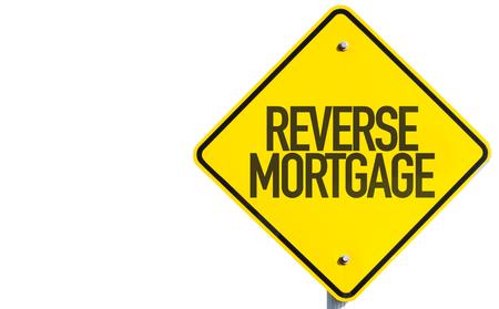Omgekeerde hypotheek teken op witte achtergrond